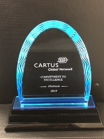 Castine Movers Receives Top Level, Commitment to Excellence Platinum Award  at Cartus 2019 Global Network Conference