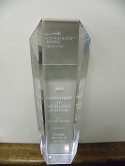 Castine Movers Receives Commitment to Excellence Platinum Award at Cartus 2005 Global Network Conference
