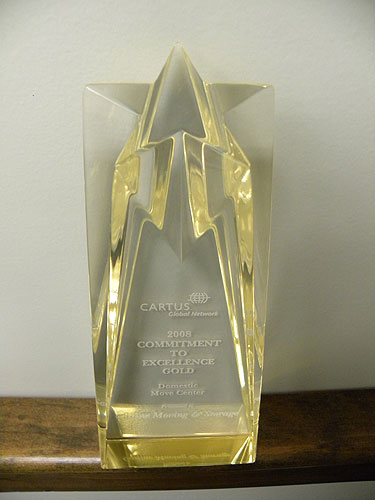 Castine Movers Receives Commitment to Excellence Gold Award at Cartus 2008 Global Network Conference