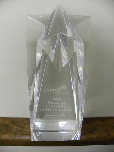 Castine Movers Receives 'Voice of Customer' Award at Cartus 2008 Global Network Conference