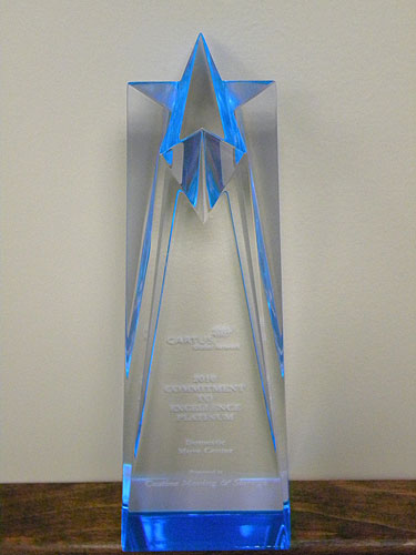 Castine Moving & Storage Receives Commitment to Excellence Platinum Award at Cartus 2010 Global Network Conference