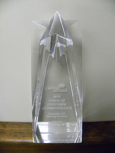 Castine Moving & Storage Receives Silver Supplier Innovation Award at Cartus 2010 Global Network Conference