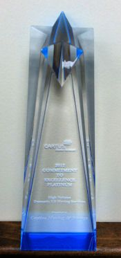 Castine Moving & Storage Receives Commitment to Excellence Platinum Award in High Volume at Cartus 2012 Global Network Conference